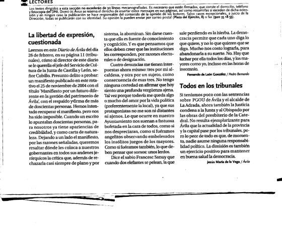 en el Diario de Avila