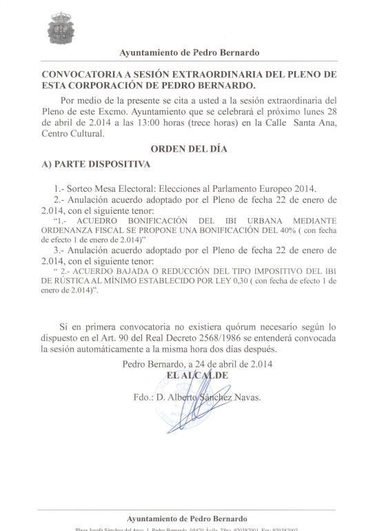 Pleno 28 de Abril 2014