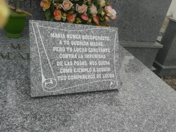 Nuestro recuerdo a María Martin